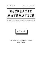 Revista (format .pdf, 1.1 MB) - Recreaţii Matematice