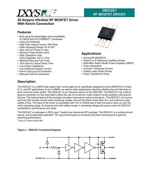DEIC421 Datasheet rev2 pub - IXYS Power