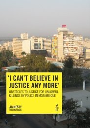 Obstacles to justice for unlawful killings by police in