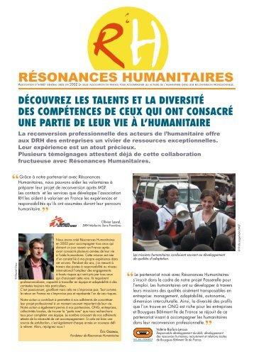 La plaquette ONG - Résonances Humanitaires