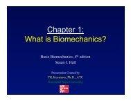 Chapter 1: What is Biomechanics?