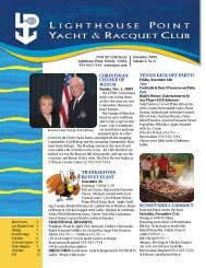 November 2009 - Lighthouse Point Yacht and Racquet Club