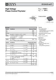 High Voltage Phase Control Thyristor - IXYS Power