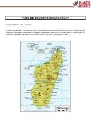 note de securite madagascar - Planète Urgence