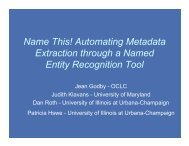 Name This! Automating Metadata Extraction through a Named Entity ...