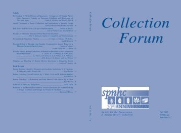 Collection F o ru m - The Society for the Preservation of Natural ...