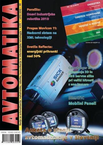 Revija za avtomatizacijo, mehatroniko, robotiko ... - Avtomatika