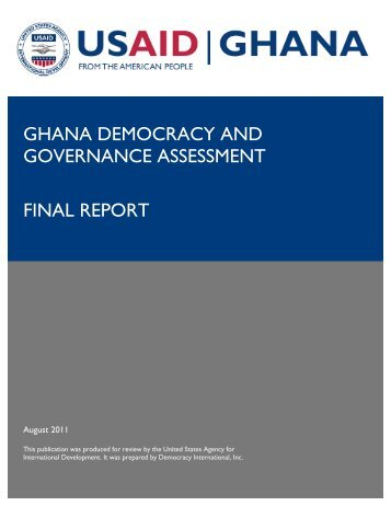 ghana democracy and governance assessment final report