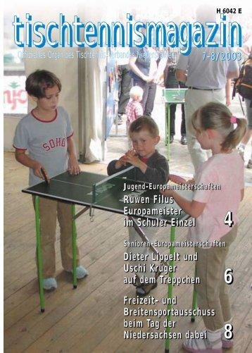 tischtennismagazin 7-8/2003 - TTVN