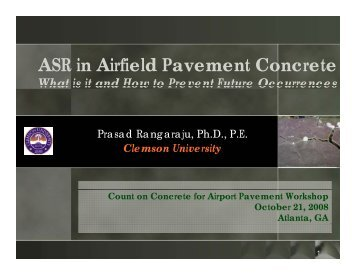 ASR in Airfield Pavement Concrete
