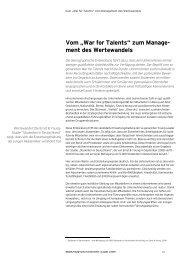 """Vom """"War for Talents"""" zum Management des ... - Rudolf X. Ruter"""