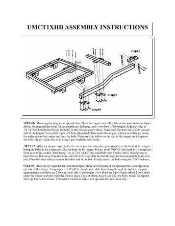 UMCT1XHD ASSEMBLY INSTRUCTIONS - The Carrier and Lift Store