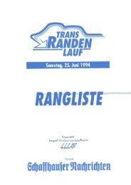Rangliste 1994 - LWS Langlaufwandergruppe Schaffhausen