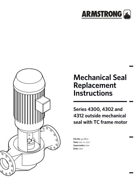 mechanical seal replacement instructions tc 230V Single Phase Motor Wiring