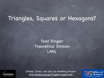 Triangles, Squares or Hexagons? - CGD