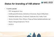 Status for branding af ViB aktører - Vand i Byer