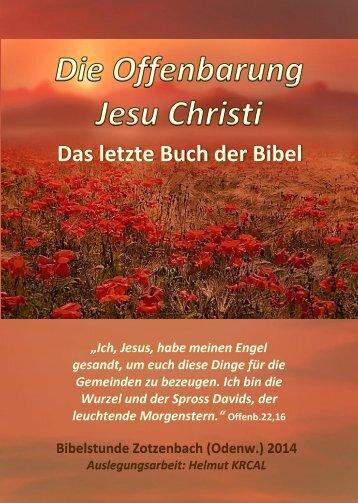 Leseprobe Die Offenbarung Jesu Christi - das letzte Buch der Bibel