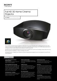 Full HD 3D Home Cinema Projector - ELVIA Display