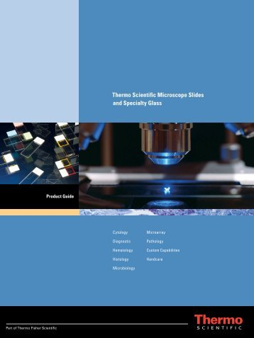 Product brochure for Slides and Specialty Glass ... - Thermo Scientific