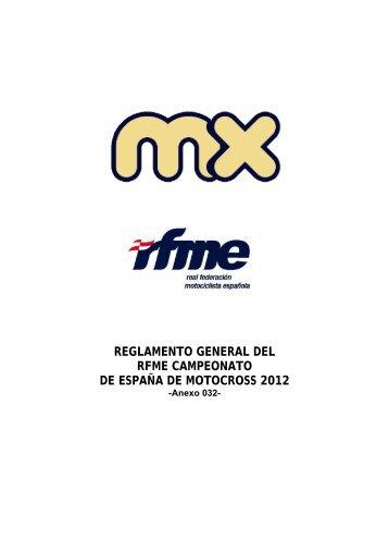 reglamento general del rfme campeonato de españa de motocross ...