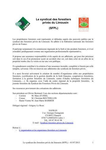 sommaire crpf limousin