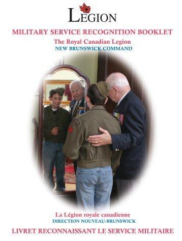 Lest we forget! - Royal Canadian Legion New Brunswick Command