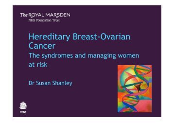 sue-shanley - The Royal Marsden