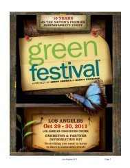 Los Angeles 2011 Page 1 - Green Festival