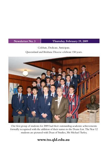 Newsletter - 3 - February 19 - The Southport School