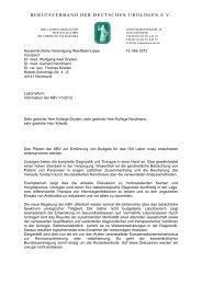 berufsverband der deutschen urologen ev - Urologenportal