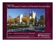 The Dynamic Context of Emotion Socialization