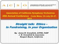 Straight talk: Ethics – In Fundraising, In your Organization - ACSO