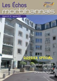 Les Echos Morbihannais N° 227 Septembre 2012 - clarpa