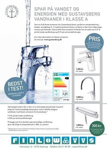 Gustavsberg toilet og energibesparende vandhaner - Finlow VVS