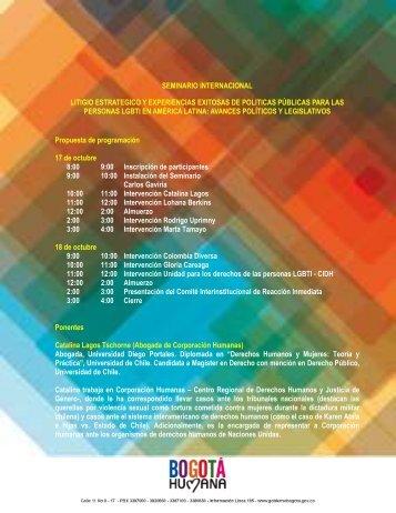 Descargue Agenda y Ponentes (PDF) - Corporación Humanas