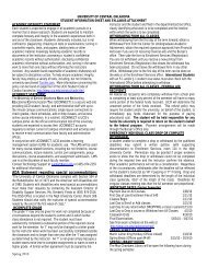 Student Information Sheet Attachment - UCO College of Business ...