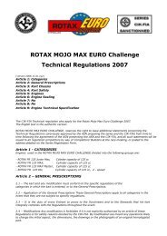 ROTAX MOJO MAX EURO Challenge Technical Regulations ... - EIKO