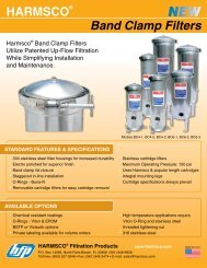 Band Clamp Filters HARMSCO®
