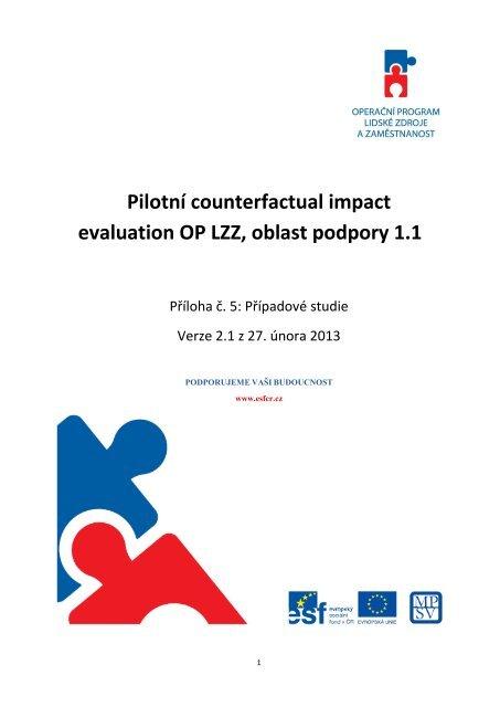 Příloha č. 5 – Případové studie Verze 2.1 z 27. února 2013
