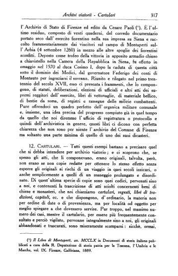 Cartulari - Istituto Centrale per gli Archivi
