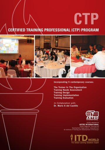 Certified training Professional (CtP) Program - ITD GROUP - Institute ...