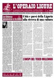 L'operaio Ligure - FOCL: Federazione Operaia Cattolica Ligure