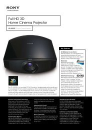 Full HD 3D Home Cinema Projector