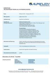 urlauB Freizeit reisen - Alpenjoy Tourismusmarketing