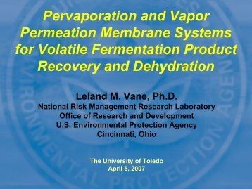 Pervaporation and Vapor Permeation Membrane Systems for ...