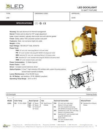 LED DockLight Spec Sheet - Energy Focus Inc.