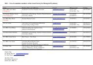 2011 - List of committee members of the Israel Society for Biological ...