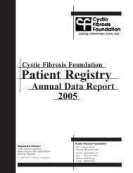 Patient Registry 2005 Annual Data Report