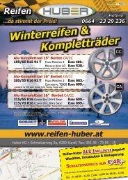 Winterreifen & Kompletträder Winterreifen ... - Reifen Huber