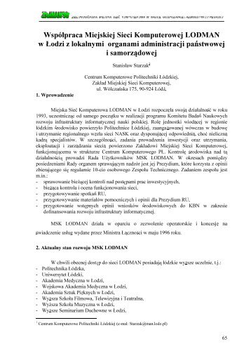 PDF 103 kB - Seminarium ZielMAN.